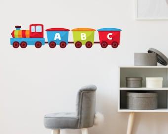 Learning Train Set Wall Sticker