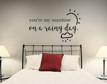 Wall Sticker Quote - You're My Sunshine