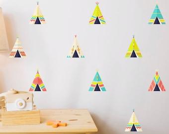 10 Teepee Nursery Wall Stickers