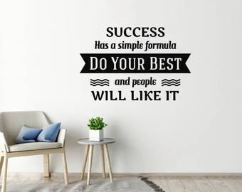 Success Wall Sticker Quote