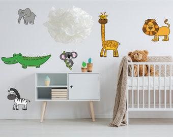 Jungle Animals Nursery Wall Stickers