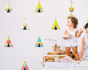 10 Teepee Tent Wall Decal Stickers