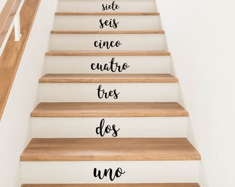 Spanish Numbers Stair Stickers