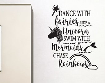 Fairies, Mermaids Wall Sticker Quote