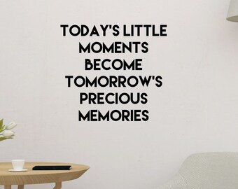 Little Moments Inspirational Wall Sticker Quote