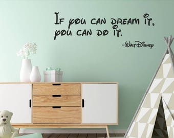 Walt Disney Wall Sticker Quote