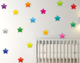 Colourful Stars Nursery Wall Stickers