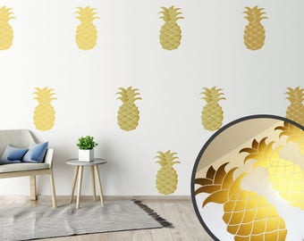 Gold Wall Stickers Decals Pineapple Art Vinyl Decal Decor Home Murals Wallpaper