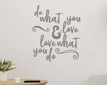 Do What You Love Motivational Wall Sticker Quote