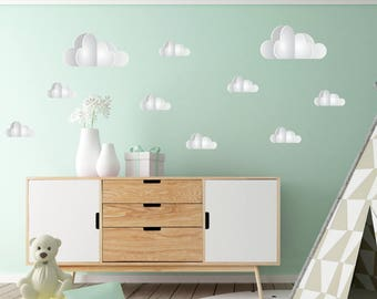 10 Clouds Wall Stickers