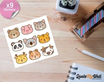 9 Kawaii Animal Planner Stickers