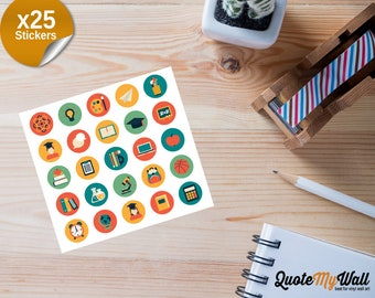 25 School Planner/Journal Stickers