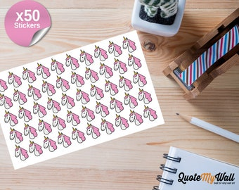 50 Unicorn Planner/Journal Stickers