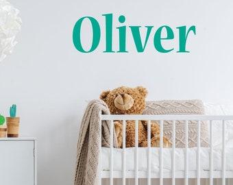 Custom Name Nursery Wall Sticker