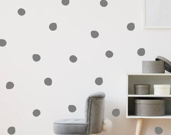 120 Irregular Polka Dot Wall Stickers