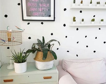 70 Irregular Polka Dot Wall Stickers
