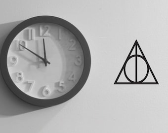 2x Harry Potter Wall Decal Sticker Deathly Hallows Symbol Sign. For Walls, Windows, Car, Childrens Room Christmas Gift