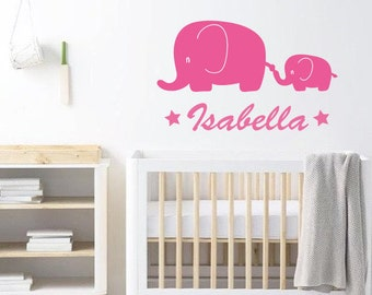 Elephant Nursery Wall Decal
