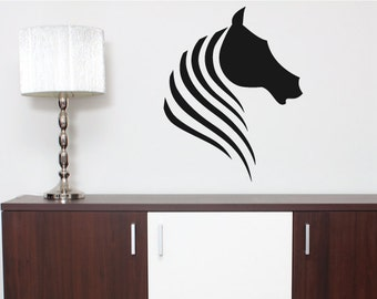 Animal Wall Decal/Vinyl Wall Sticker Horse Head Abstract - Home, Bedroom Modern Wall Art Decor Christmas Gift