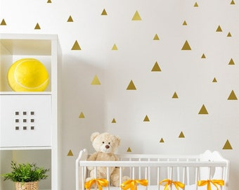 Gold Triangle Wall Stickers