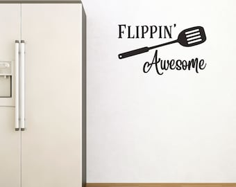 Flippin Awesome Kitchen Wall Sticker Quote