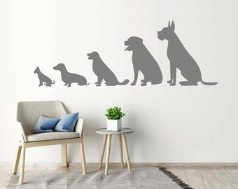 Animal Wall Stickers - Line Of Dogs