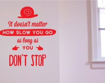 Motivational Wall Sticker Decal Quote, Don't Stop. Art Gift For Home Decor Christmas Gift