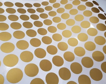 Gold Polka Dot Nursery Wall Stickers