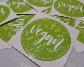 Vegan Laptop Sticker