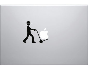 Macbook Decal Parcel Handler | Removable Vinyl Laptop/iPad Sticker Christmas Gift