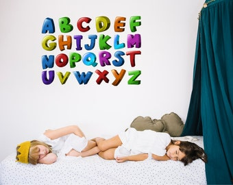 Chunky Alphabet Kids Wall Stickers