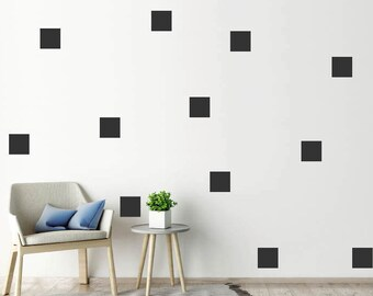 100 Squares Wall Stickers/Wall Decals