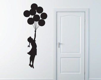 Banksy Wall Sticker Decal - Flying Balloon Girl