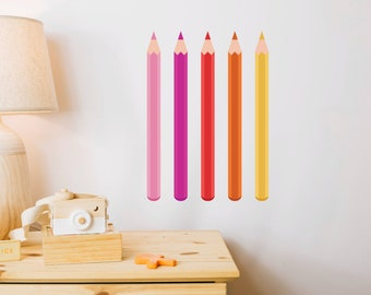 Giant Pencils Nursery Wall Stickers