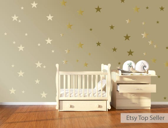 nursery wall stickers star wall decals star wall stickers   etsy