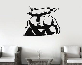 Banksy Vinyl Wall Decal/Sticker Landwalker Elephant Christmas Gift