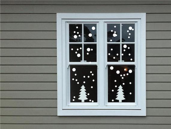 Wall Window Stickers Snowflake Dots Christmas Xmas Vinyl Art Decoration Decals