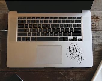 Macbook Decal Hello Lovely, Mac Decal, Motivational Decal - Removable Vinyl Laptop/iPad Stickers, Mirror Decal Christmas Gift