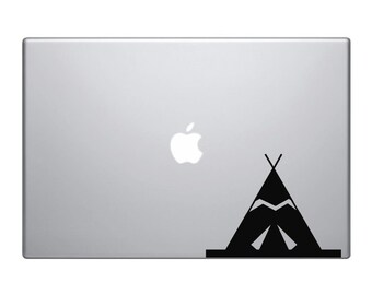 Macbook Decal Sticker Teepee Tent, Vinyl Decal For Pro Laptop Christmas Gift