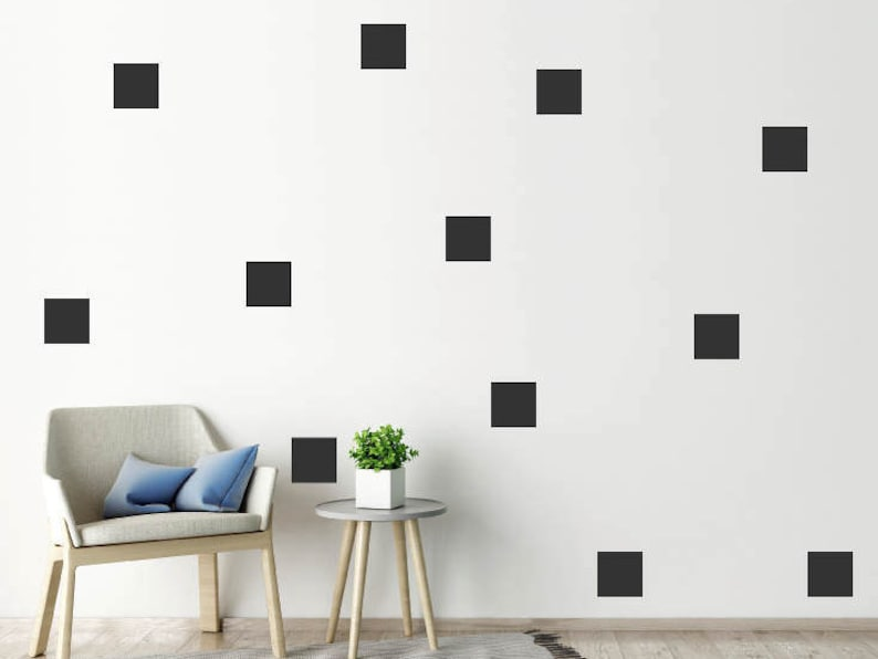 vinyl stickers decals wall decor SQUARES SOLID /& EMPTY