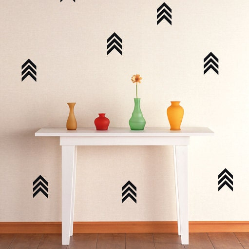 44 Triple Arrow Wall Stickers, Design, Removable Wall Decals, Home ...