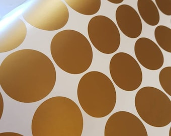 100 Gold Polka Dot Decals