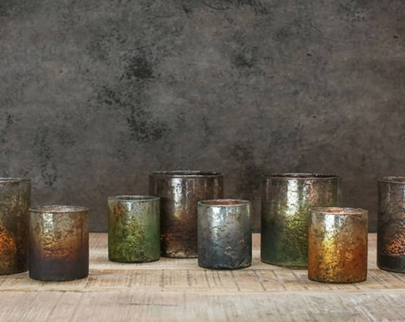 Fairtrade tea light holder glass candle holder eco decor venue decoration eco giftware candleholders wedding decorations eco partyware large