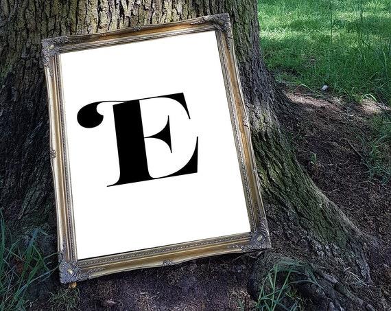 Personalised letter print, monogram, alphabet, house print, living room print - monochrome print - typography print - type print
