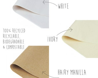 100% Recycled White Tissue Paper (375 x 500mm), eco friendly gift wrap, sustainable packaging, recycled gift wrap, eco friendly packaging