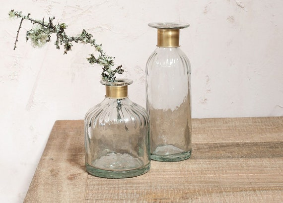 Fairtrade bohemian vase eco decor venue decoration eco giftware tapered bottle vase wedding decoration eco partyware centrepiece two sizes