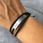 CordonByLn suede Small bracelet stamped with your words custom jewelry handmade