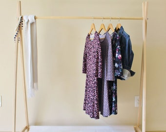 Adult Clothing Rack, Craft Fair Display, Craft Fair Rack, Vendor Display, Wood Clothing Rack, Garment Rack, 60 Inches Tall Choose the Length