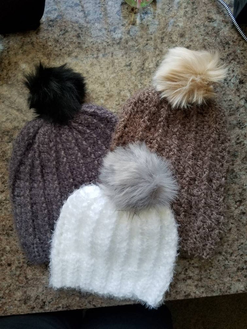 Choose any color pompom on your hat. Warm and very soft winter hats Can be made to order