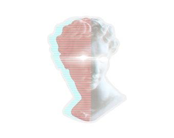 David Bust Sticker